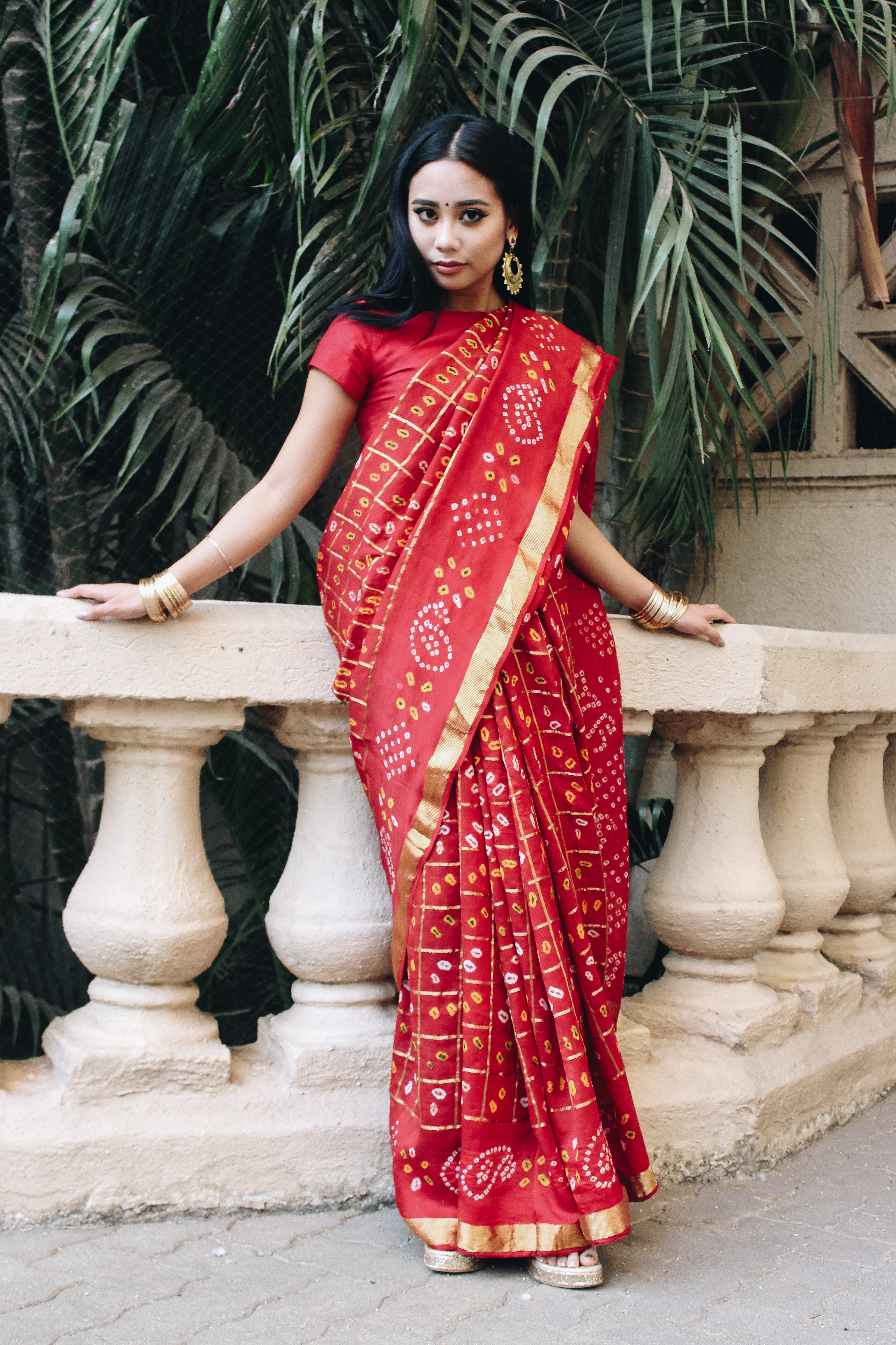 Lulu Meets World Professional Travel Blogger Fashion Ethnic Wear Sari Mumbai India Hiranandani Gardens