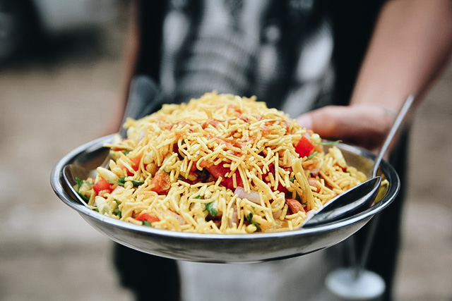 Bhel Indian Vegetarian Street Foods Lulu Meets World Mumbai India Asia Travel Blog