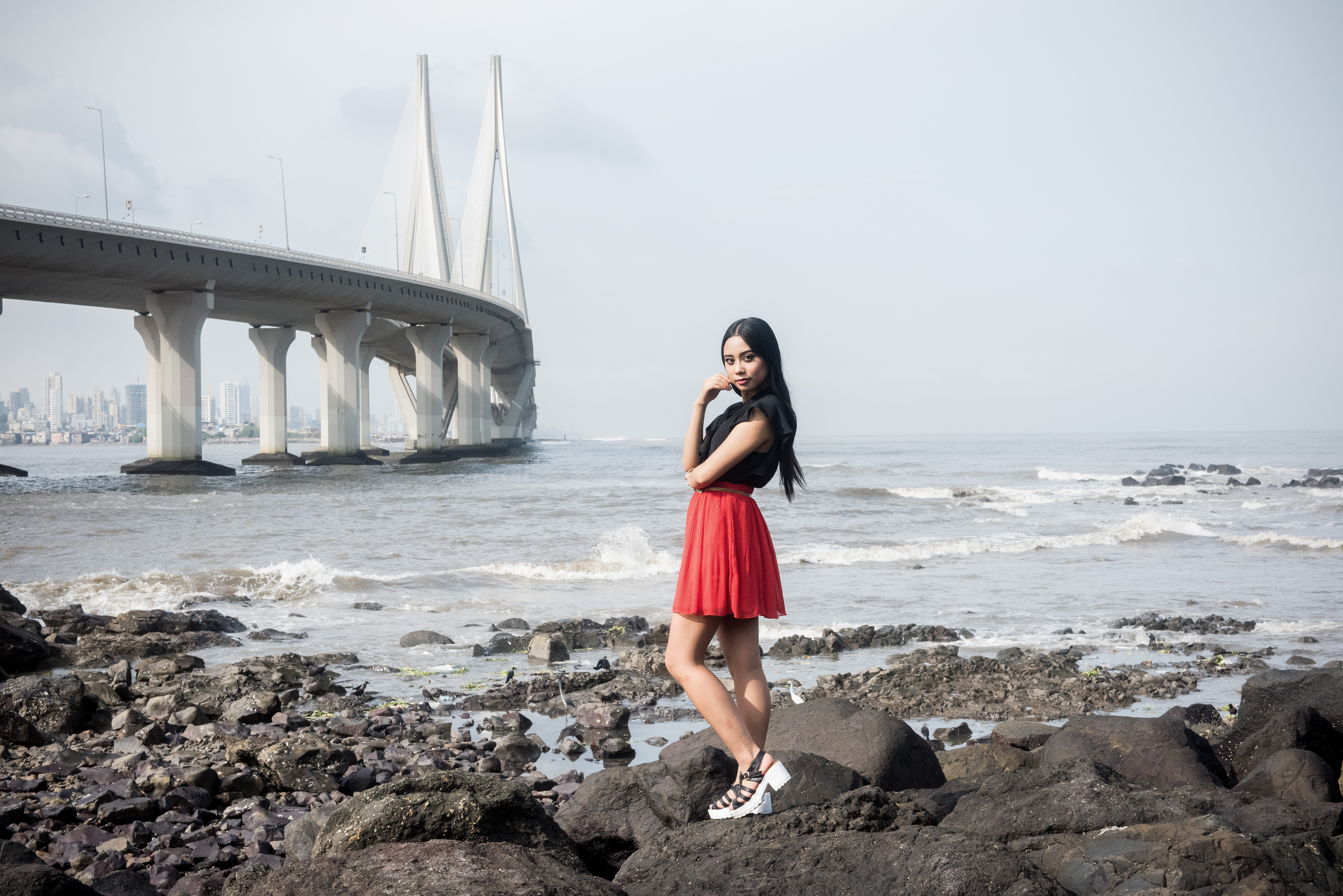 Fake Accent Bandra-Worli Sea Link Mumbai Bombay India Lulu Meets World Professional Travel Blogger Lumen Beltran