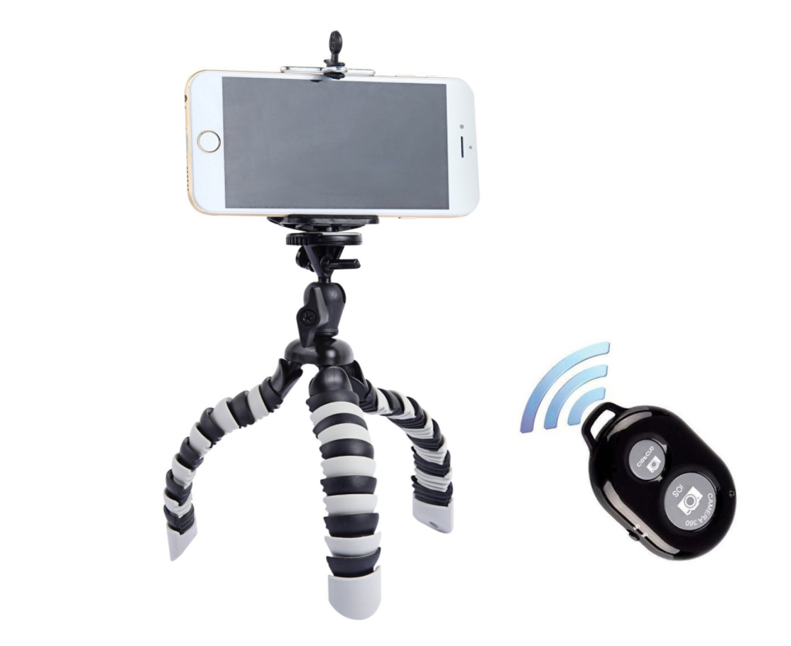 Peyou Octopus Tripod + Bluetooth Remote Amazon Product Shop Lulu Meets World Travel Gear Accessories Electronic Essentials