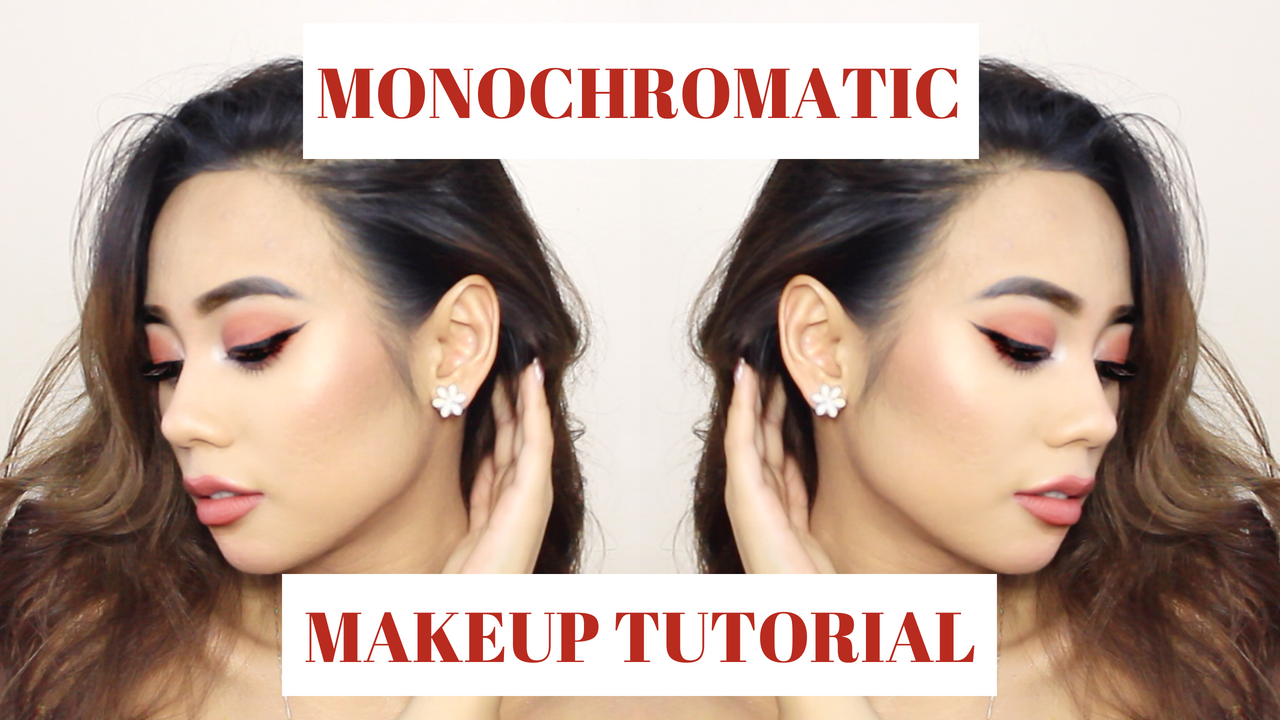 MONOCHROMATIC MAKEUP TUTORIAL LULU MEETS WORLD BEAUTY BLOGGER