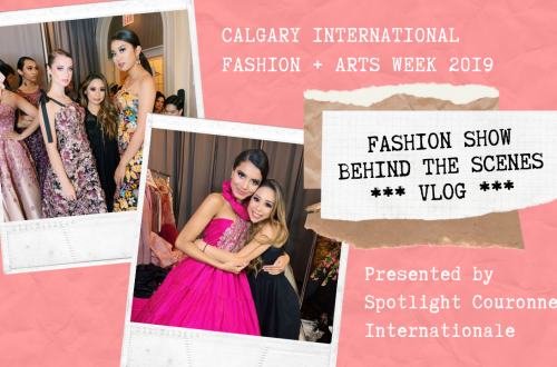 Canadian Youtuber Lumen Beltran based in Calgary Alberta Behind the Scenes at Calgary International Fashion and Arts Week